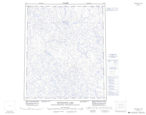 056F Pennington Lake Canadian topographic map, 1:250,000 scale