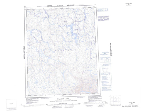 056J Walker Lake Canadian topographic map, 1:250,000 scale