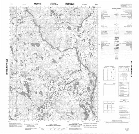 056N03 No Title Canadian topographic map, 1:50,000 scale