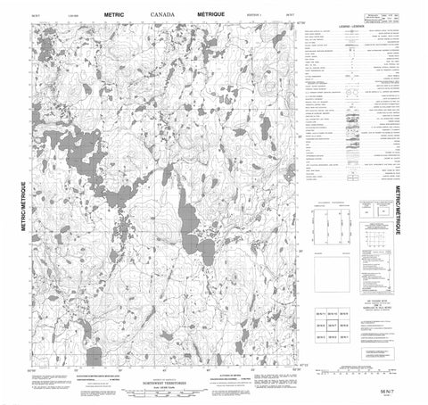 056N07 No Title Canadian topographic map, 1:50,000 scale