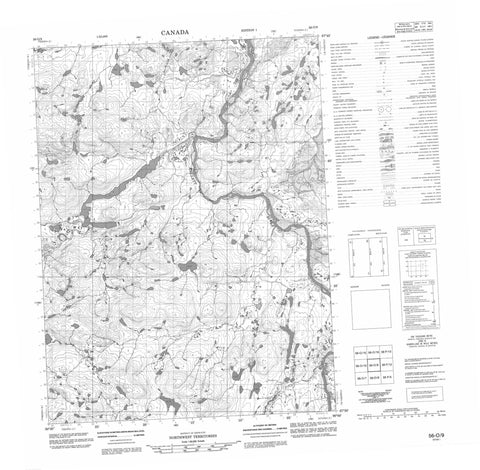 056O09 No Title Canadian topographic map, 1:50,000 scale