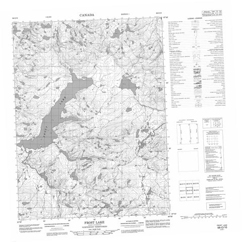 056O10 Frost Lake Canadian topographic map, 1:50,000 scale