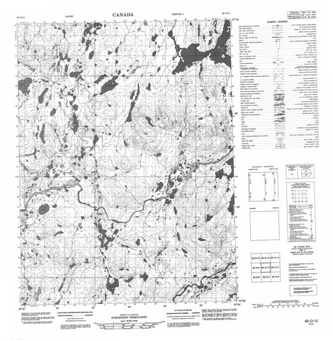 056O12 No Title Canadian topographic map, 1:50,000 scale
