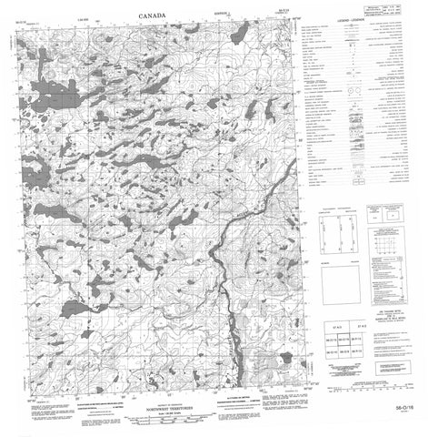 056O16 No Title Canadian topographic map, 1:50,000 scale