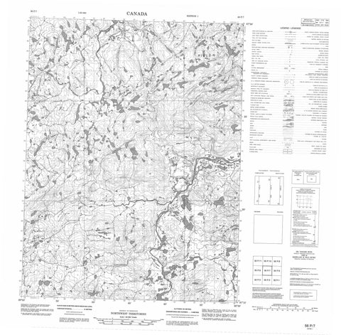 056P07 No Title Canadian topographic map, 1:50,000 scale
