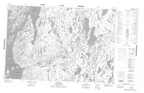 057A10 Login Bay Canadian topographic map, 1:50,000 scale