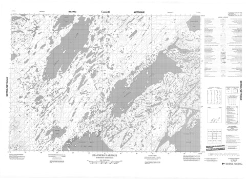 057C10 Stanners Harbour Canadian topographic map, 1:50,000 scale