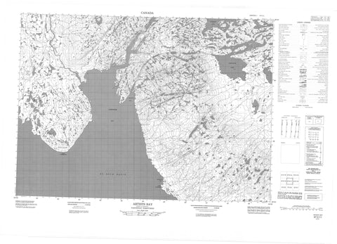 057C11 Artists Bay Canadian topographic map, 1:50,000 scale