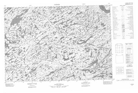 057D04 No Title Canadian topographic map, 1:50,000 scale