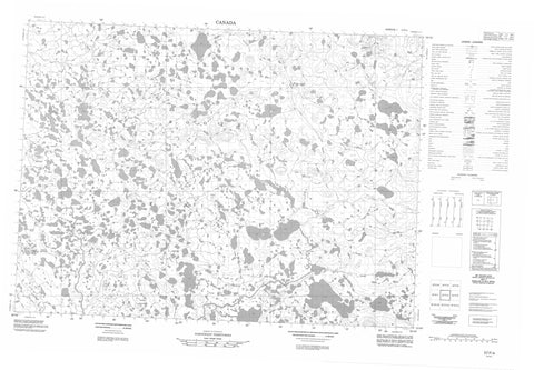 057F04 No Title Canadian topographic map, 1:50,000 scale