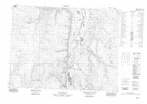 057F13 No Title Canadian topographic map, 1:50,000 scale