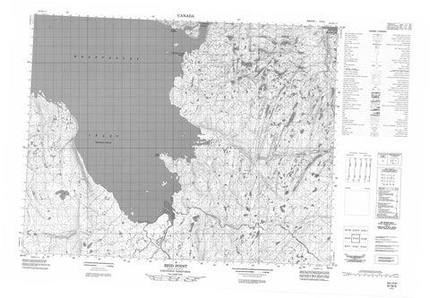 057G05 Reid Point Canadian topographic map, 1:50,000 scale