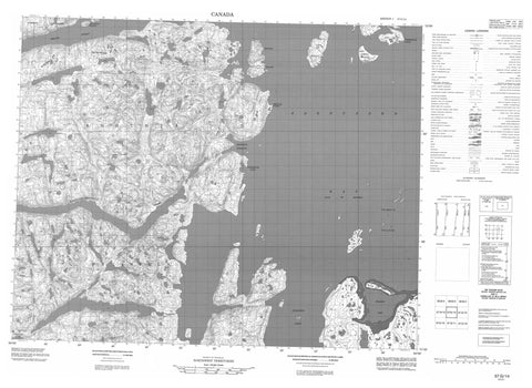 057G14 No Title Canadian topographic map, 1:50,000 scale