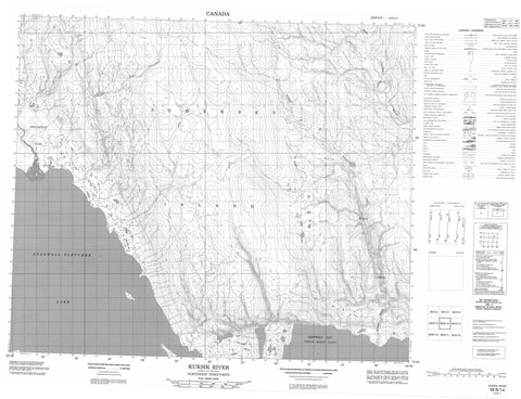058B14 Kuksik River Canadian topographic map, 1:50,000 scale