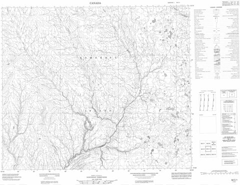 058C01 No Title Canadian topographic map, 1:50,000 scale