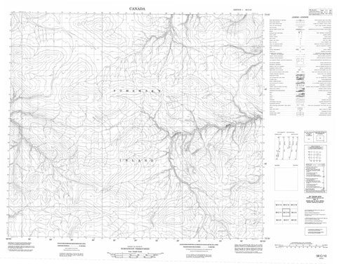 058C10 No Title Canadian topographic map, 1:50,000 scale