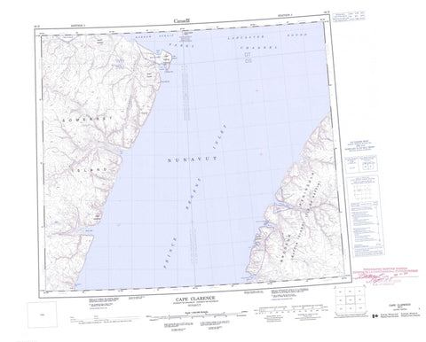058D Cape Clarence Canadian topographic map, 1:250,000 scale