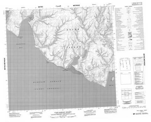 058E11 Cape Eardley Wilmot Canadian topographic map, 1:50,000 scale