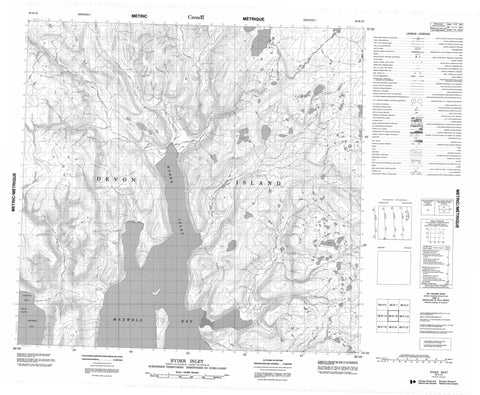 058E16 Ryder Inlet Canadian topographic map, 1:50,000 scale