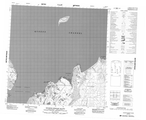 058G12 Houston Stewart Island Canadian topographic map, 1:50,000 scale