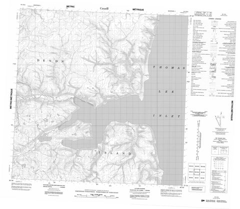058H10 No Title Canadian topographic map, 1:50,000 scale
