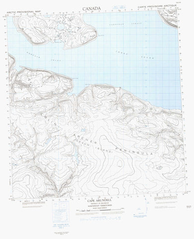059A06 Cape Arundell Canadian topographic map, 1:50,000 scale