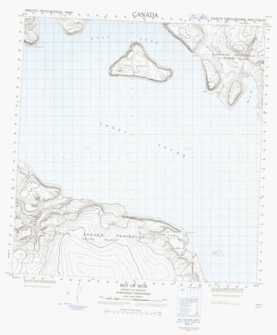 059A07 Bay Of Woe Canadian topographic map, 1:50,000 scale