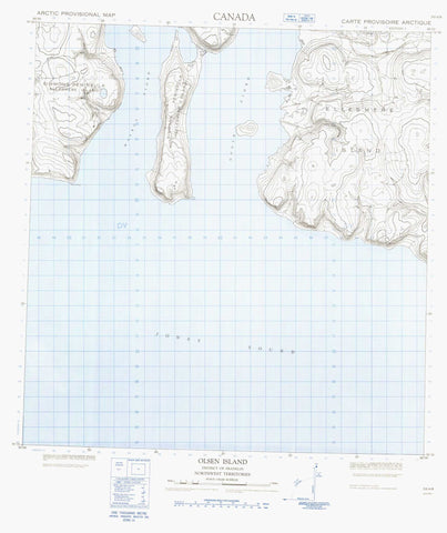 059A08 Olsen Island Canadian topographic map, 1:50,000 scale