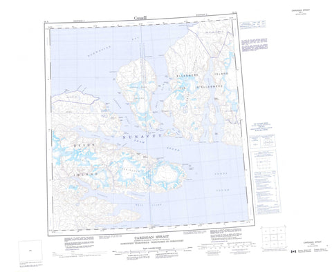 059A Cardigan Strait Canadian topographic map, 1:250,000 scale