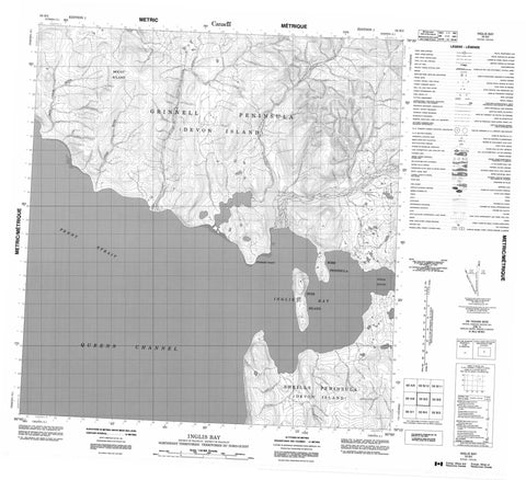 059B05 Inglis Bay Canadian topographic map, 1:50,000 scale
