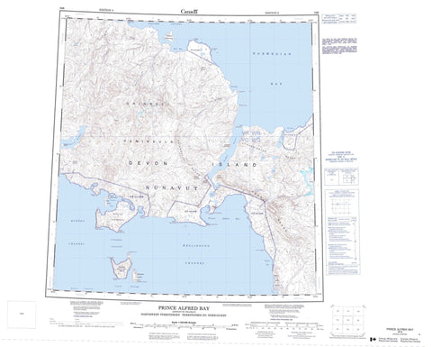 059B Prince Alfred Bay Canadian topographic map, 1:250,000 scale