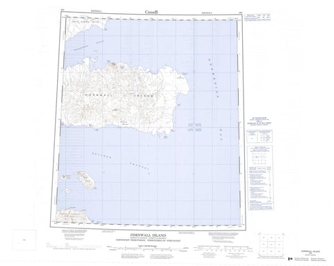 059C Cornwall Island Canadian topographic map, 1:250,000 scale