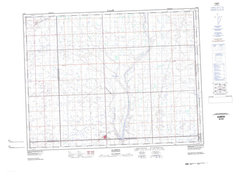 062E08 Alameda Canadian topographic map, 1:50,000 scale