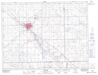062E12 Weyburn Canadian topographic map, 1:50,000 scale