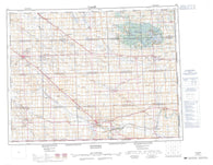 062E Weyburn Canadian topographic map, 1:250,000 scale