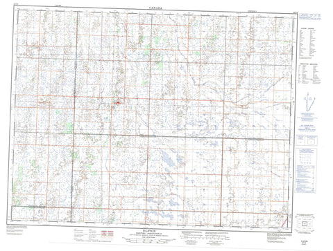 062F06 Tilston Canadian topographic map, 1:50,000 scale