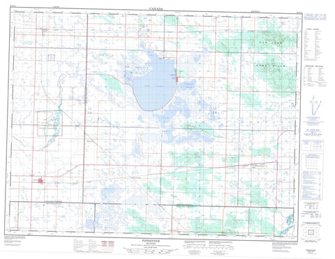 062F10 Pipestone Canadian topographic map, 1:50,000 scale