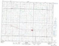 062F12 Redvers Canadian topographic map, 1:50,000 scale