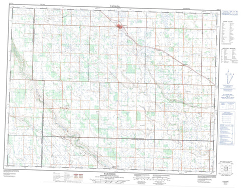 062F14 Elkhorn Canadian topographic map, 1:50,000 scale
