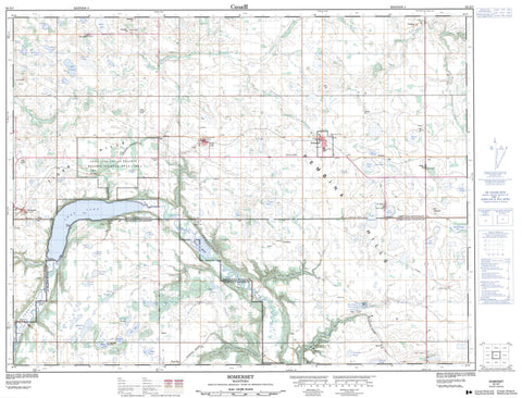 062G07 Somerset Canadian topographic map, 1:50,000 scale