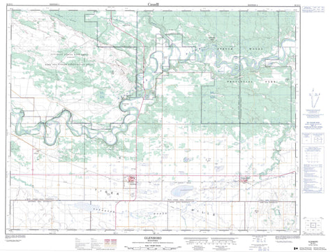 062G11 Glenboro Canadian topographic map, 1:50,000 scale
