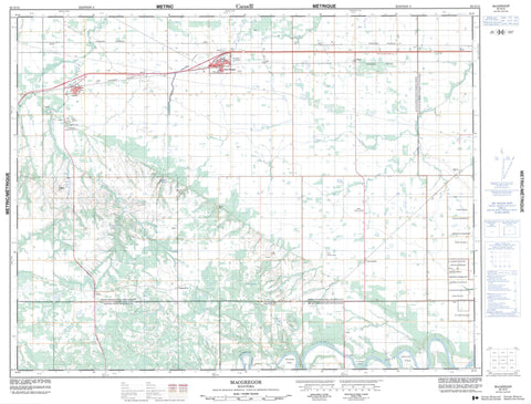 062G15 Macgregor Canadian topographic map, 1:50,000 scale