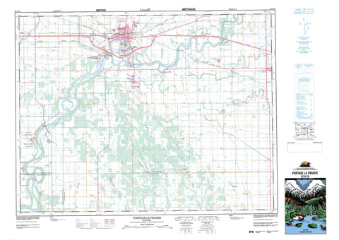 062G16 Portage La Prairie Canadian topographic map, 1:50,000 scale