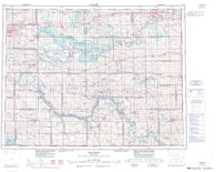 062G Brandon Canadian topographic map, 1:250,000 scale
