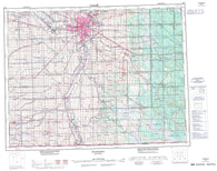 062H Winnipeg Canadian topographic map, 1:250,000 scale