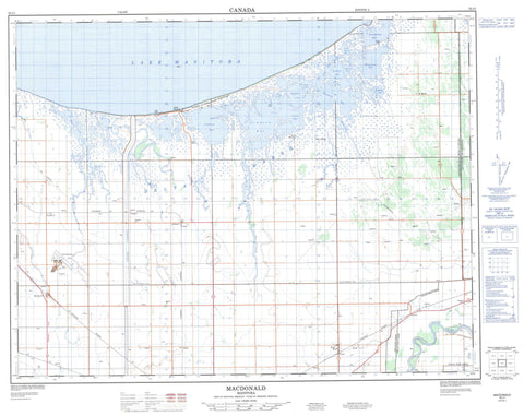062J01 Macdonald Canadian topographic map, 1:50,000 scale