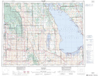 062J Neepawa Canadian topographic map, 1:250,000 scale