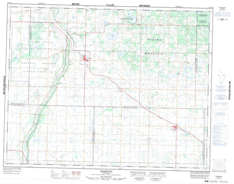 062K10 Rossburn Canadian topographic map, 1:50,000 scale