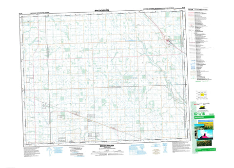 062L16 Bredenbury Canadian topographic map, 1:50,000 scale