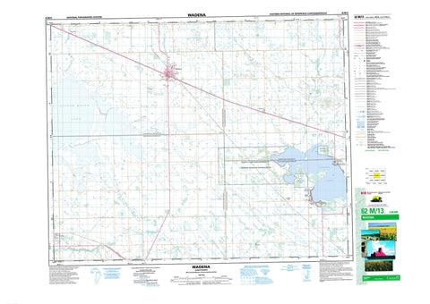 062M13 Wadena Canadian topographic map, 1:50,000 scale